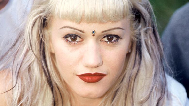 Gwen Stefani wearing a bindi in the 1990s