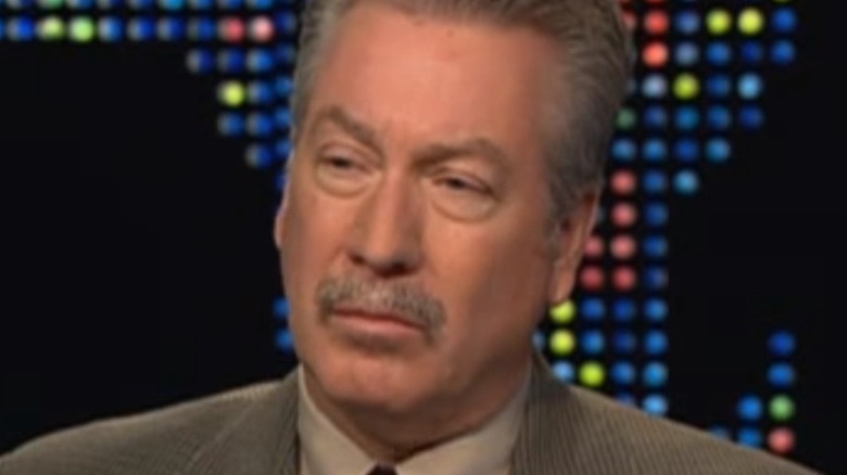 Drew Peterson with serious expression during interview