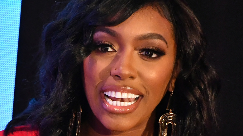 Porsha Williams speaking at an event