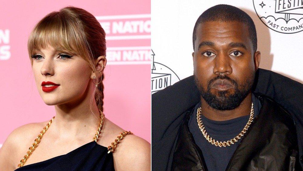 Singer-songwriter Taylor Swift and rapper Kanye West