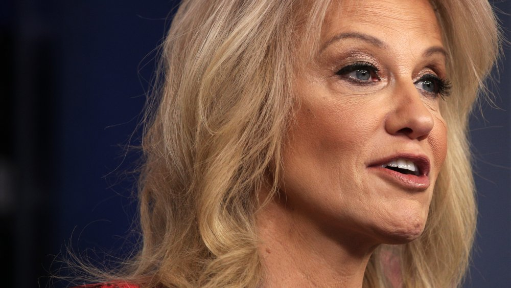 White House Senior Counselor Kellyanne Conway speaks during a news briefing at the James Brady Press Briefing Room of the White House