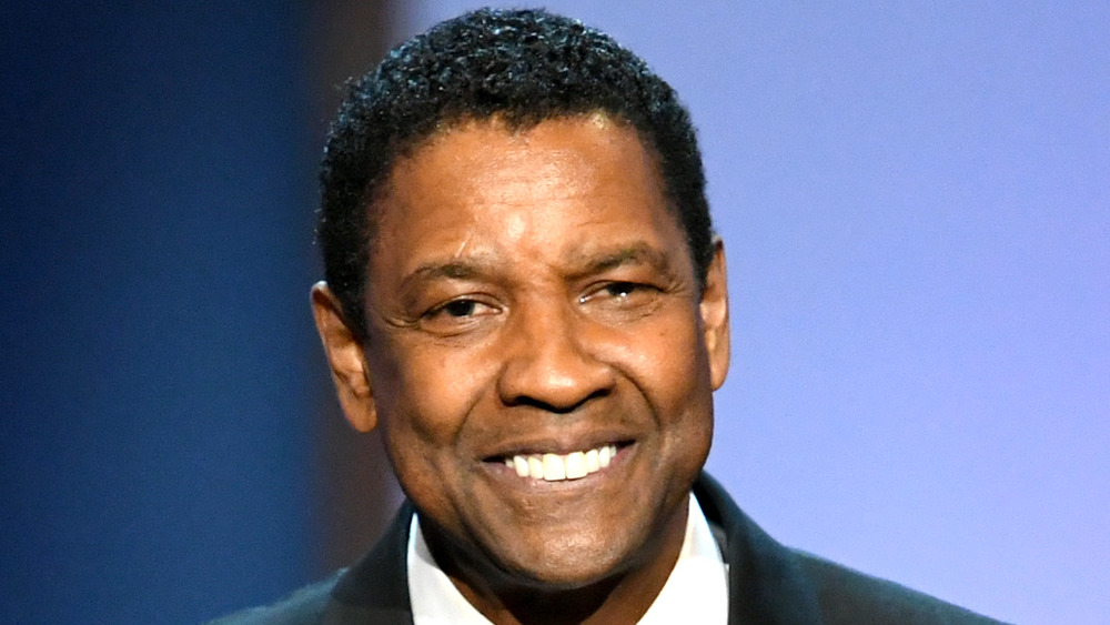 Denzel Washington grinning