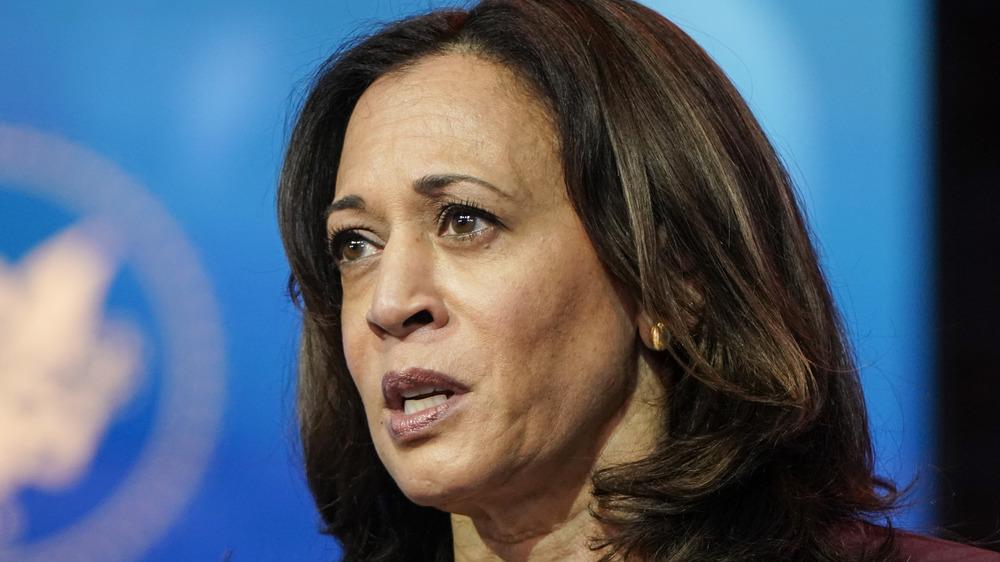 Vice President-elect Kamala Harris speaks in Delaware