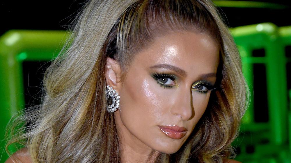 Paris Hilton at a fashion show