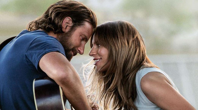 """Bradley Cooper as Jackson Maine and Lady Gaga as Ally in """"A Star Is Born"""""""