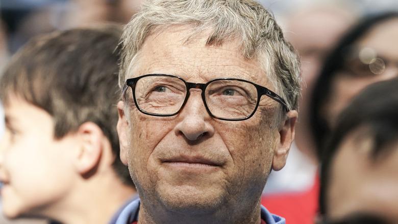 Bill Gates looks up