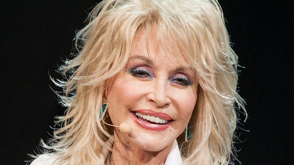 Dolly Parton performing on stage