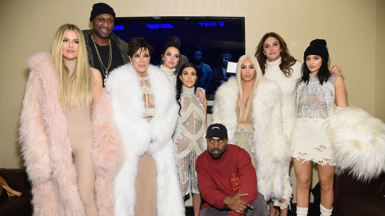 The Kardashian-Jenners with Lamar Odom and Kanye West