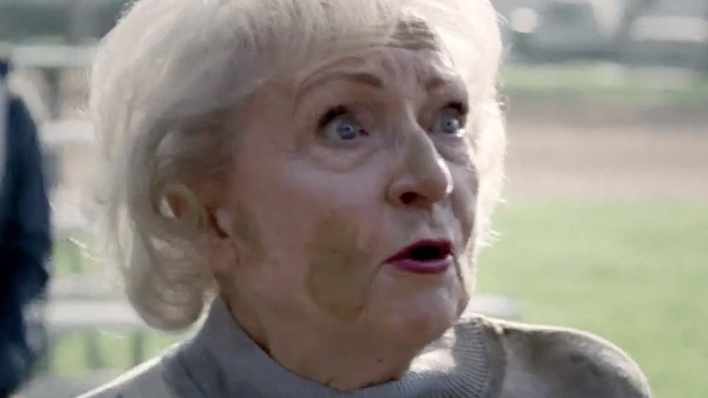 Betty White in a Snickers ad