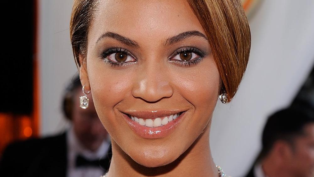Beyonce smiling