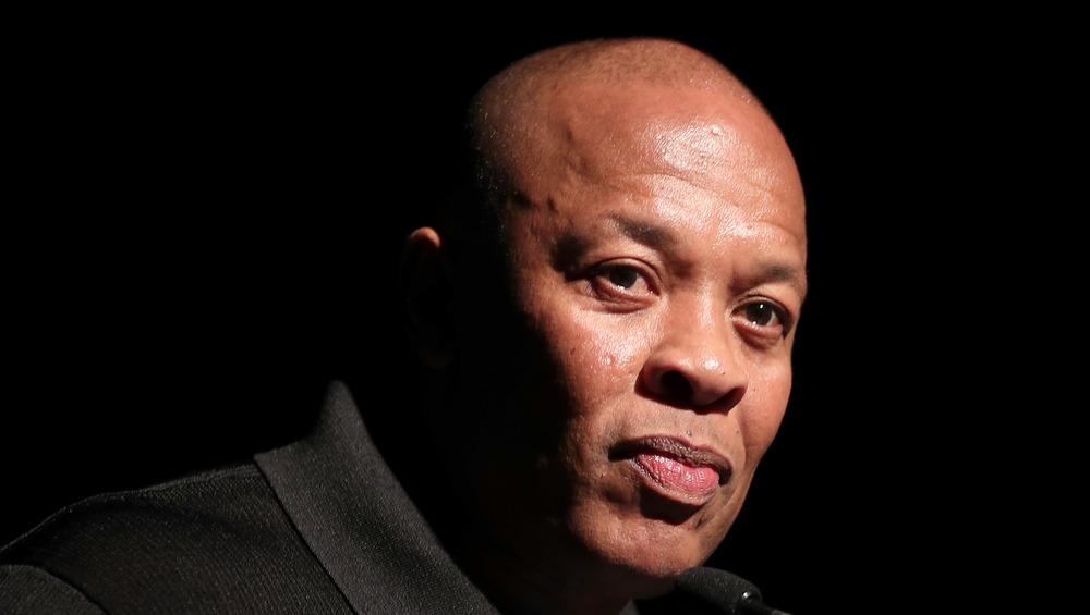Dr. Dre staring