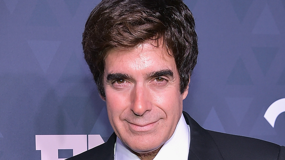 David Copperfield smiling at an event