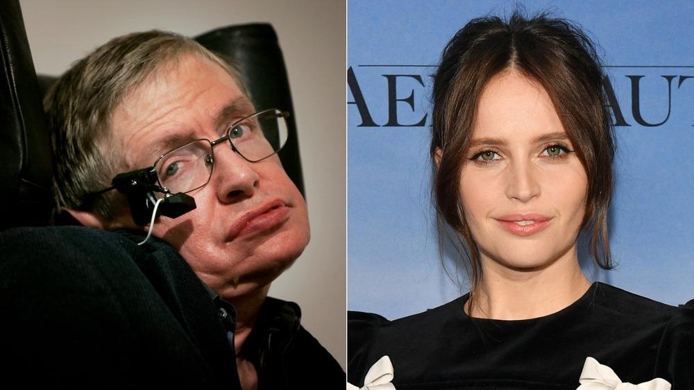 Felicity Jones and Stephen Hawking
