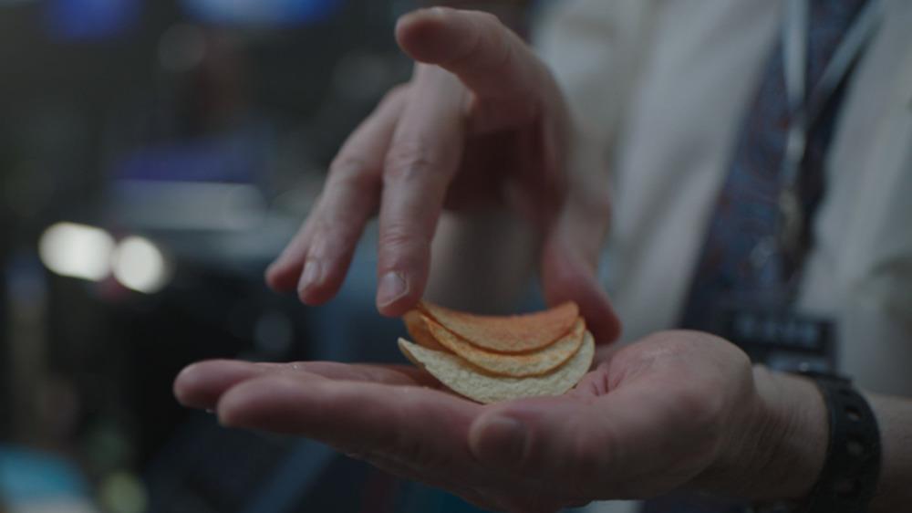 Closeup of the Pringles Super Bowl LV ad