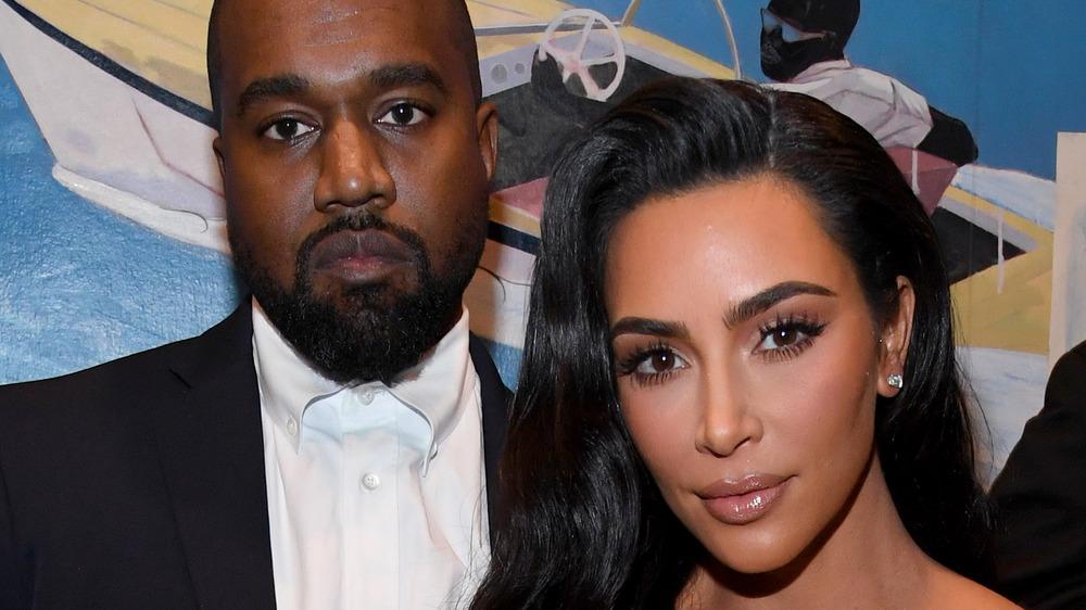 Kanye West, Kim Kardashian smiling