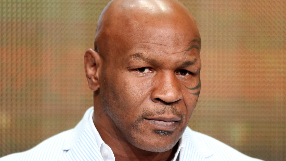 Mike Tyson staring