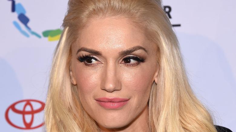 Gwen Stefani gazing to the side