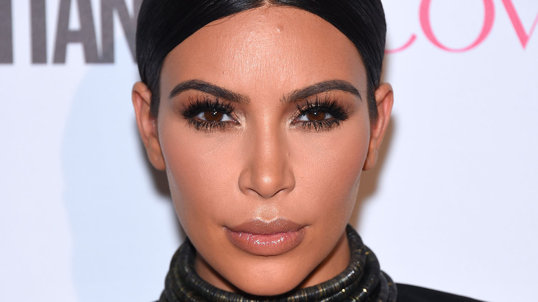 Kim Kardashian eyelashes lips