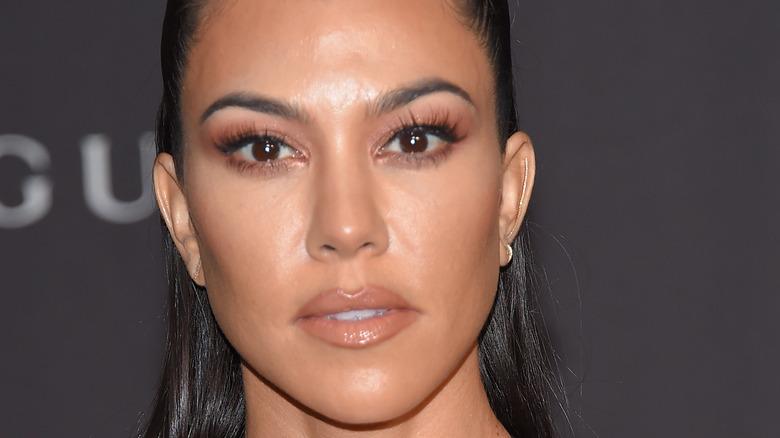 Kourtney Kardashian sleek hair