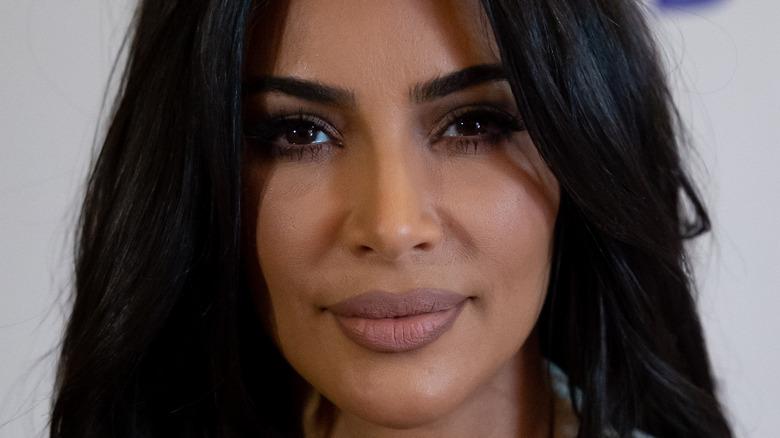 Kim Kardashian poses