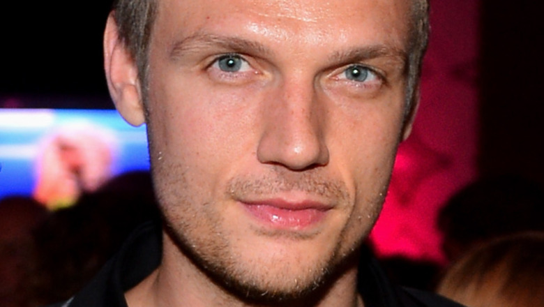 Nick Carter with a serious expression
