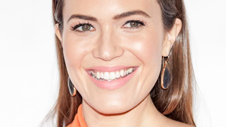 closeup of Mandy Moore smiling