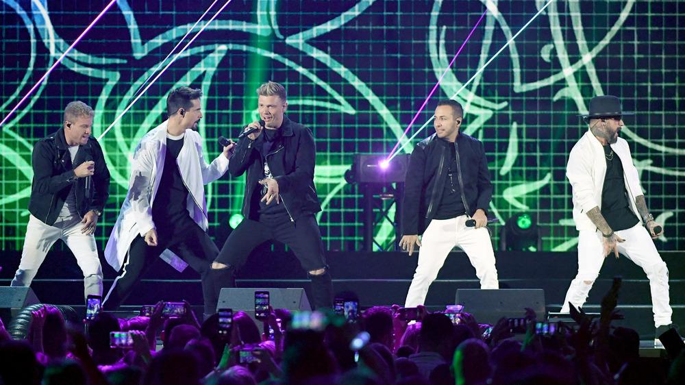 Backstreet Boys performing