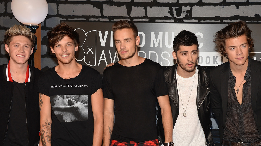 Niall Horan, Louis Tomlinson, Liam Payne, Zayn Malik, and Harry Styles at an event