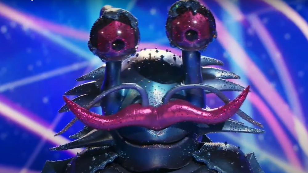 The Masked Singer's Crab onstage during the competition