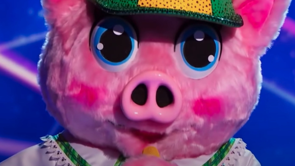 The Masked Singer's Piglet onstage during the competition