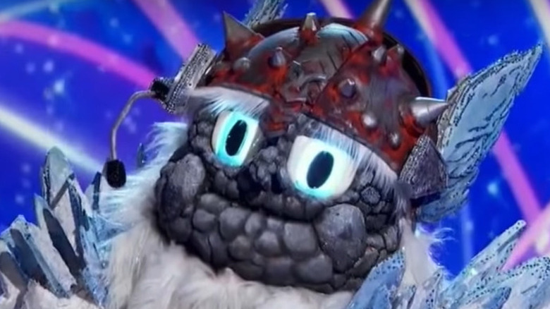 The Masked Singer's Yeti onstage during the competition