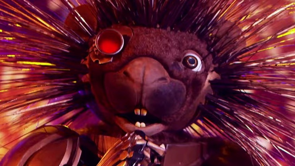 The Masked Singer's Robopine onstage during the competition