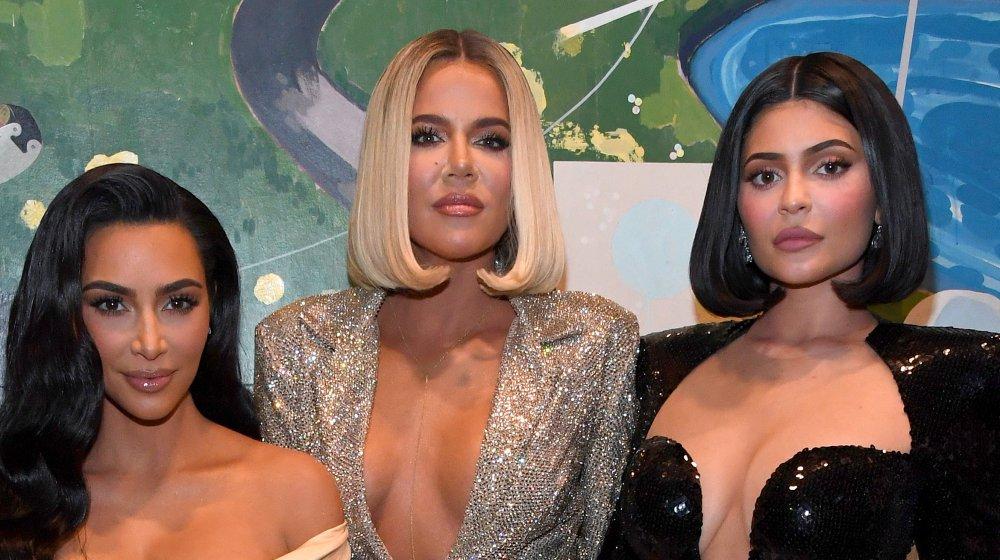 Kim Kardashian, Khloe Kardashian, and Kylie Jenner at P.Diddy's Birthday