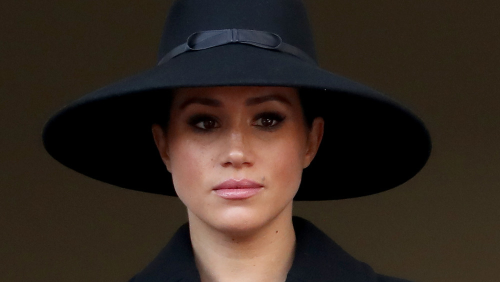 Meghan Markle at Remembrance Sunday in 2019