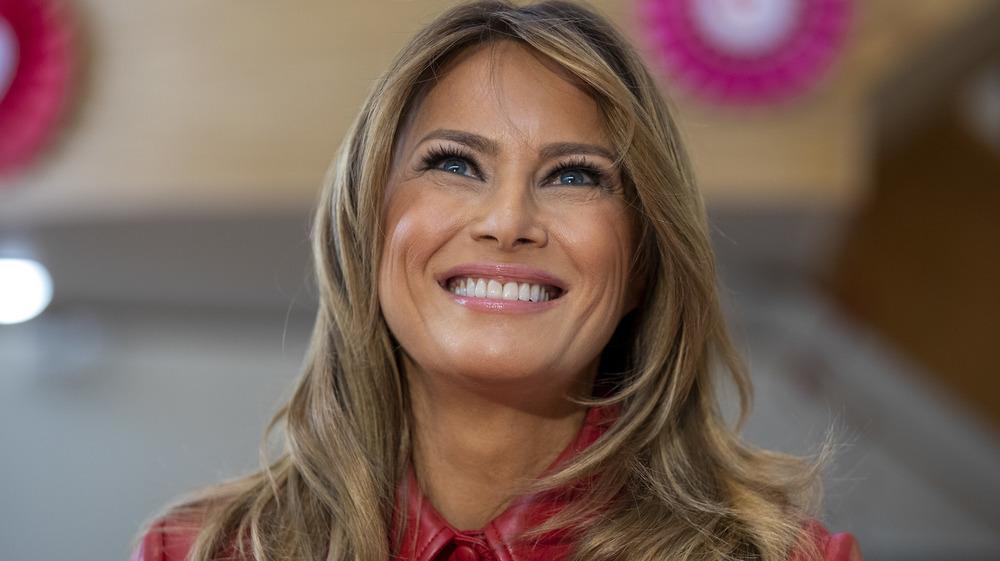 Melania Trump smiling in 2020