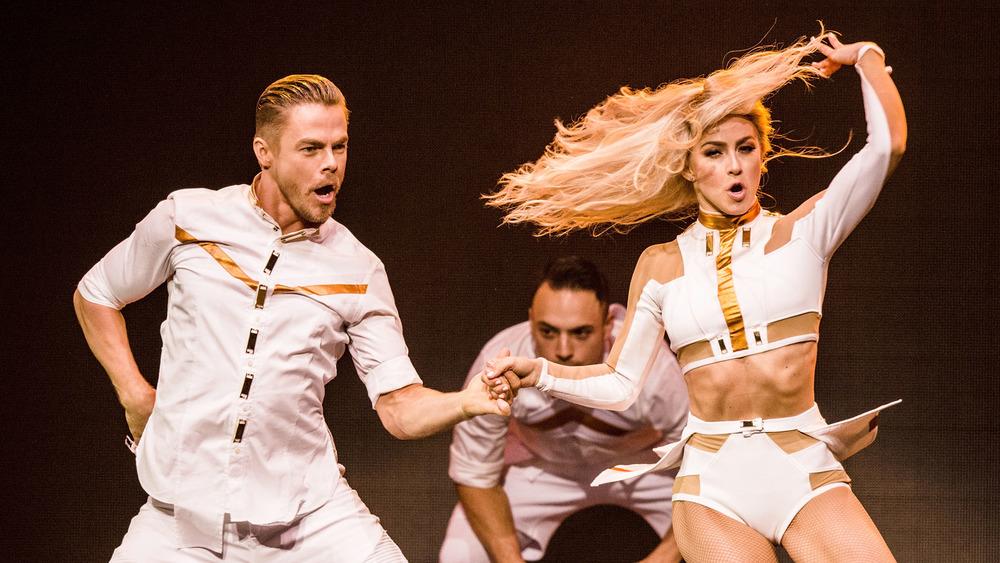 Derek Hough and Julianne Hough dancing
