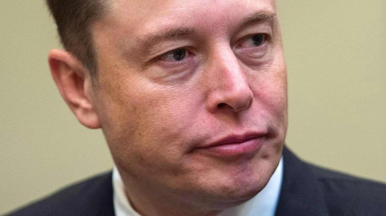 Elon Musk looking glum
