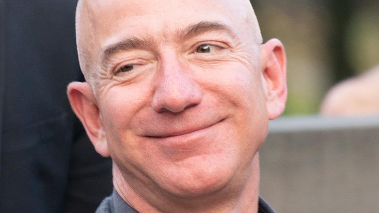 Jeff Bezos smirking