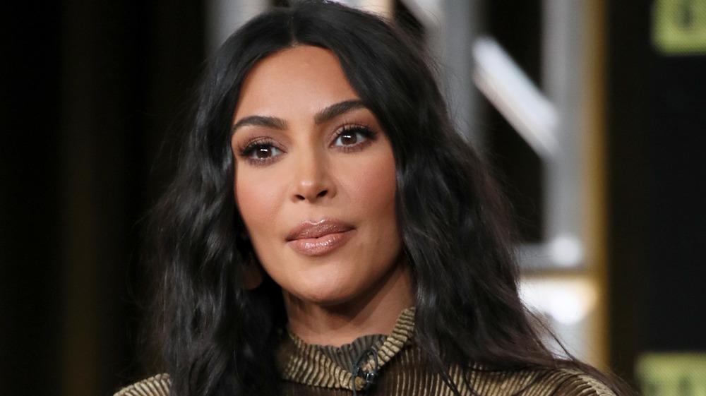 Kim Kardashian West speaking at an event