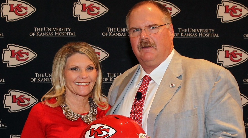 Andy Reid and wife Tammy Reid at Kansas City Chiefs press conference 2013