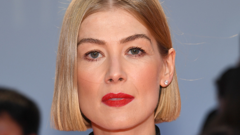 """Rosamund Pike attends the """"Radioactive"""" premiere in 2019"""