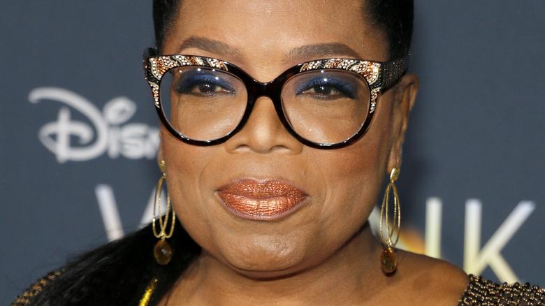 Oprah Winfrey speaking during Global Citizen Prize Awards