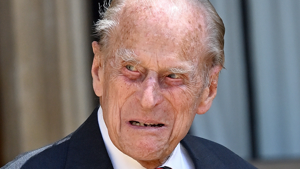 Prince Philip looking serious
