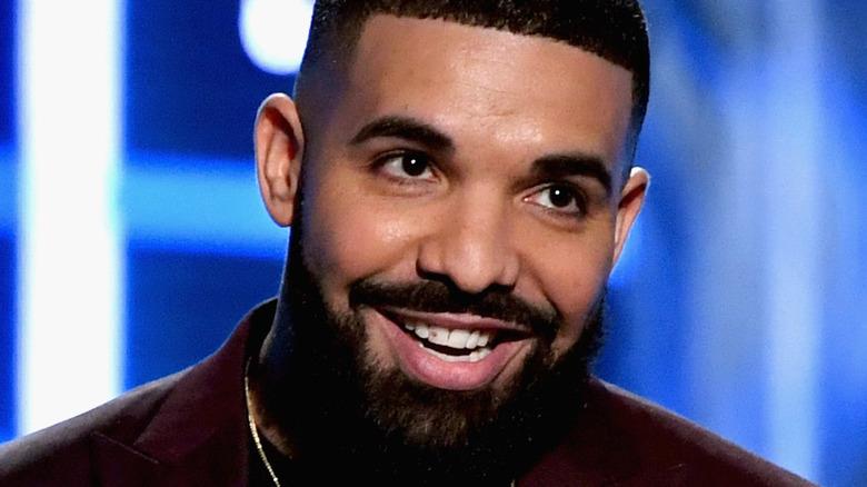 Drake accepting award