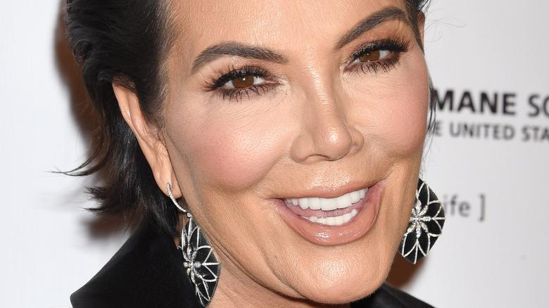 Kris Jenner smiling for the cameras