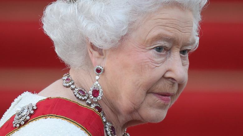 Queen Elizabeth II in a carriage