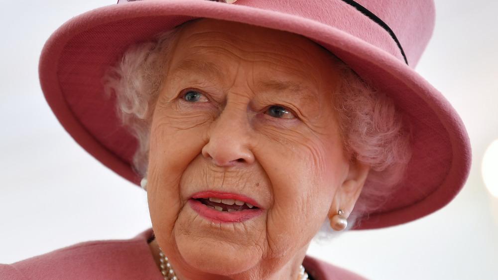 Queen Elizabeth II looking off to the side