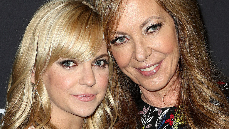 Anna Faris and Allison Janney posing together at an event