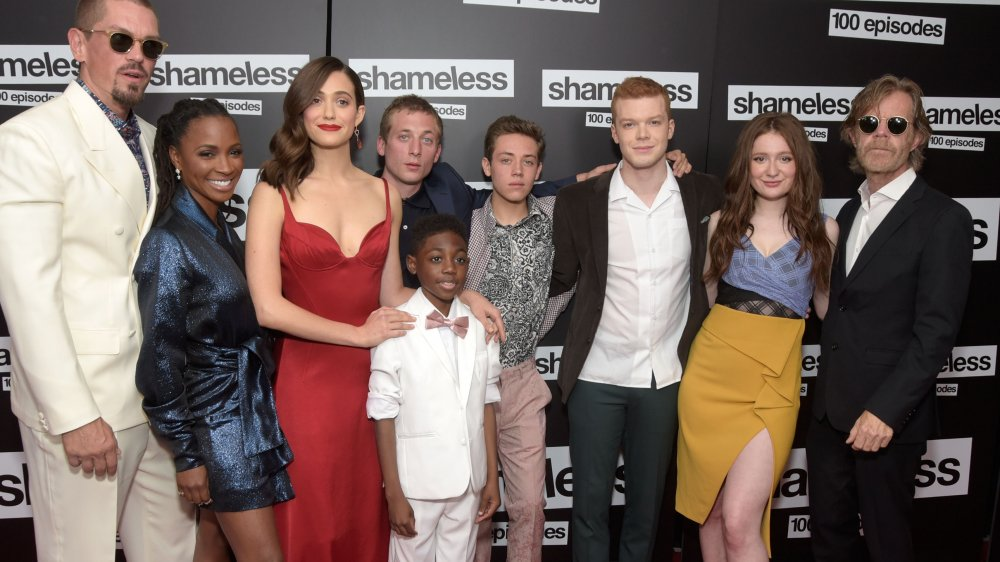 The Shameless cast at the celebration of the 100th episode