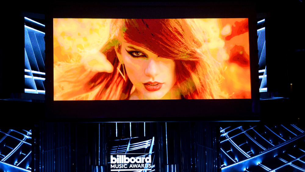 """Taylor Swift's """"Bad Blood"""" music video is shown at the 2015 Billboard awards"""